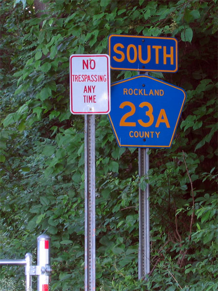 No trespassing any time; South 23A Rockland County