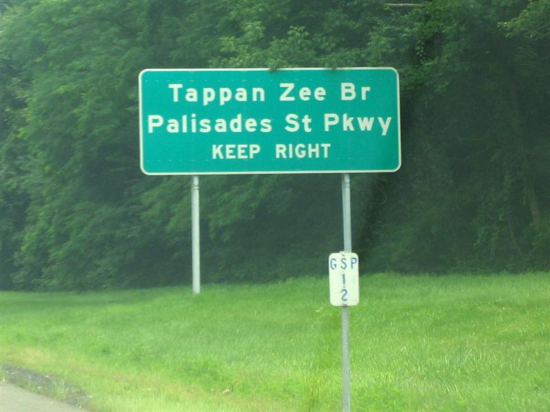 Tappan Zee Br; Palisades St Pkwy; Keep right