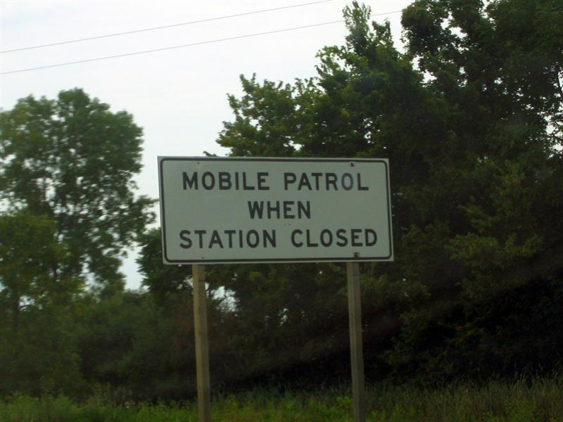 Mobile patrol when station closed