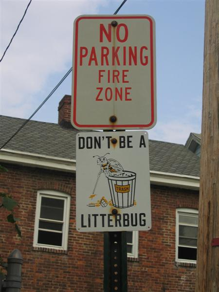 Don't be a litterbug (graphical, legacy)